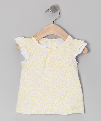 Yellow Butter Cup Angel-Sleeve Tee - Infant
