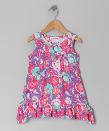 Magenta Bohemian Groove Ruffle Tunic - Toddler & Girls