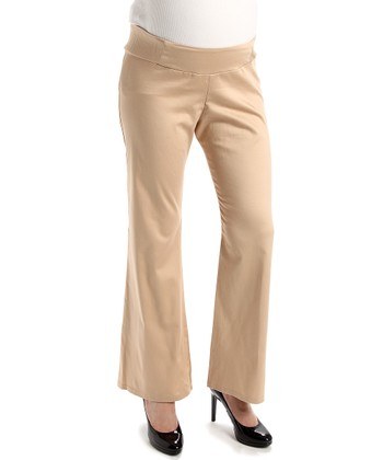 Khaki Under-Belly Maternity Pants
