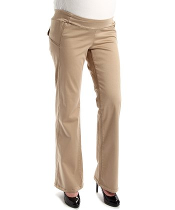 Juliet Dream Khaki Zig Zag Maternity Pants
