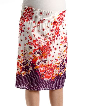 Poppy Field Maternity Skirt