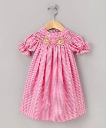Pink Easter Smocked Bishop Dress - Infant & Toddler