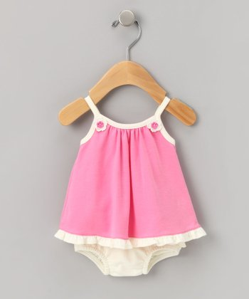 Hot Pink Swing Dress Set - Infant