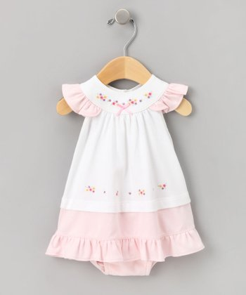 Pink Flower Dress Set - Infant