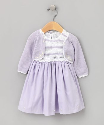 Purple Crochet Dress Set  - Infant & Toddler