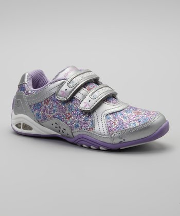 Silver & Purple Jade Light-Up Sneaker