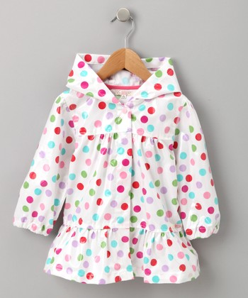 Pink Polka Dot Raincoat - Kids