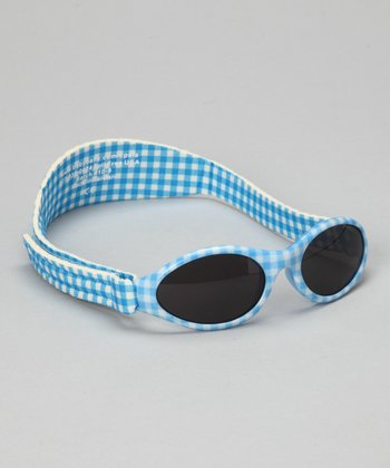 Blue Gingham Adventure Sunglasses