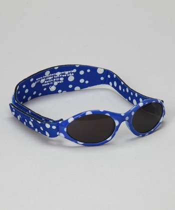 Navy Polka Dot Adventure Sunglasses