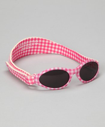 Pink Gingham Adventure Sunglasses