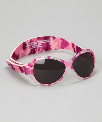 Pink Camo Retro Sunglasses