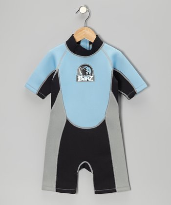 Blue & Black One-Piece Wetsuit - Infant, Toddler & Kids