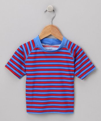 Red & Blue Stripe Rashguard - Infant