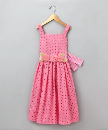 Dollie & Me Pink Eyelet Dress