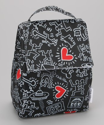 Keith Haring Graffiti Heart Lunch Bag