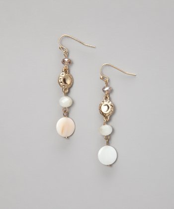 Gold & Shell Linear Earrings
