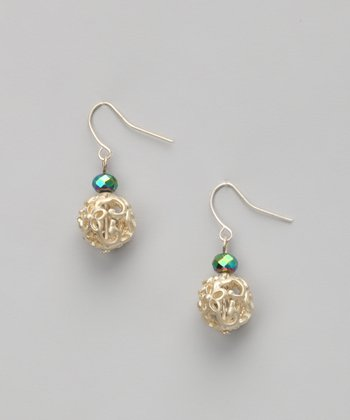 Emerald & Gold Earrings