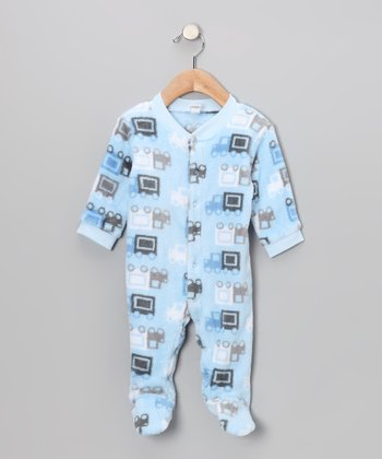Blue Truck Footie - Infant