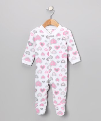 Pink Heart Footie