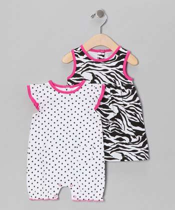 Hot Pink Zebra Dress & Romper