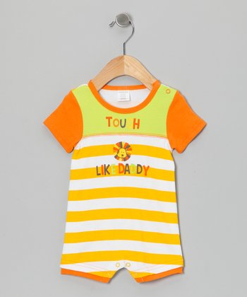 Orange & Lime 'Tough Like Daddy' Romper