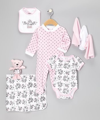 Pink Sweetie Nine-Piece Layette Set