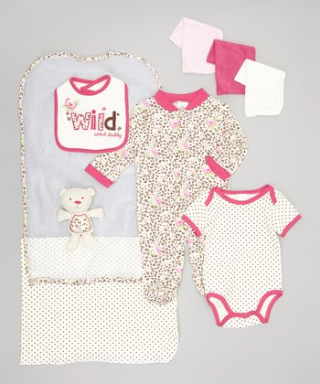 Pink 'Wild about Daddy' 9-Piece Layette Set - Infant