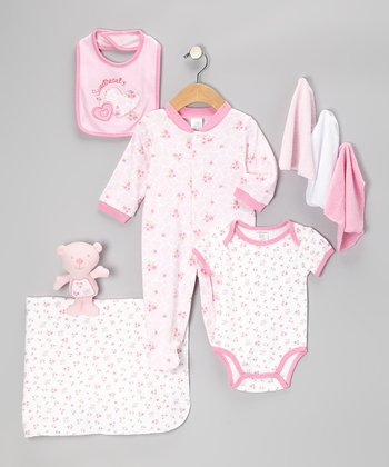 Pink Sweet Heart 9-Piece Layette Set
