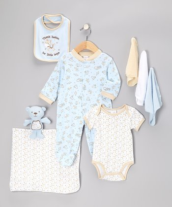 Blue 'Thank Heaven for Little Boys' 9-Piece Layette Set