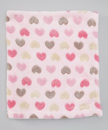 Pink Heart Burnout Stroller Blanket
