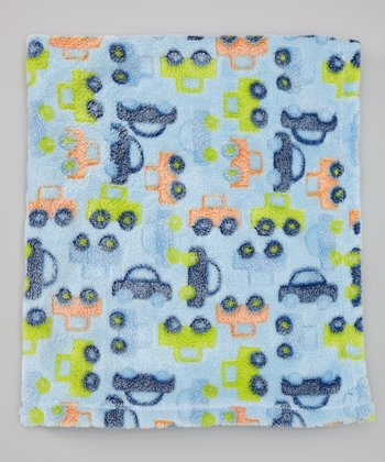 Blue Trucks Burnout Stroller Blanket