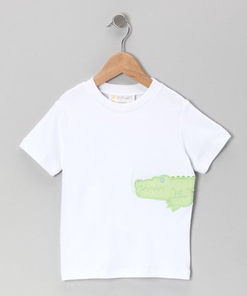 White Alligator Tee - Toddler & Boys