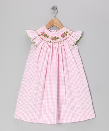 Pink Turtle Trot Smocked Dress - Infant, Toddler & Girls