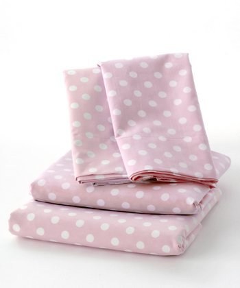 Pink La De Dot Sheet Set