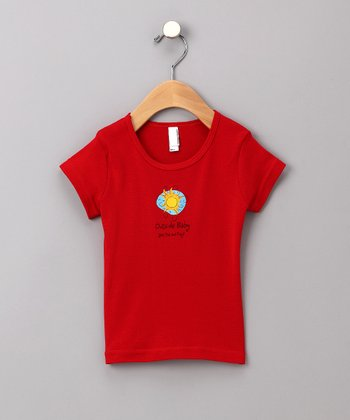 Red Sun Cap-Sleeve Tee - Girls