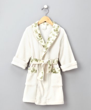 Cream Toile Robe - Girls