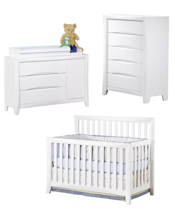 White Monet 4 Piece Nursery Set