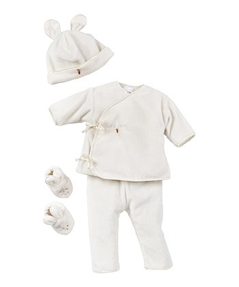 White Hop Wear Wrap Top Set - Infant