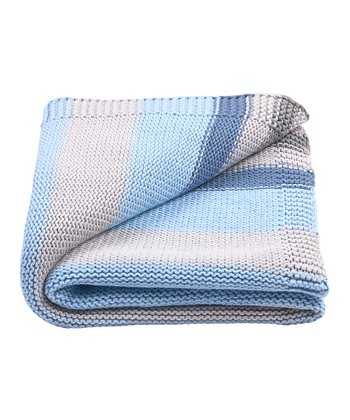 Blue Stripe Receiving Blanket