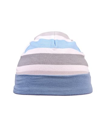 Blue & White Stripe Twilight Beanie