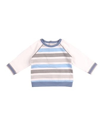 Blue & White Stripe Twilight Top - Infant & Toddler