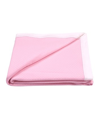 Candy Pink Polka Dot Receiving Blanket