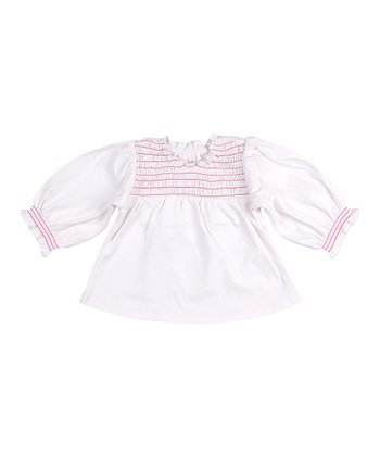 Cream Flora Peasant Top - Infant