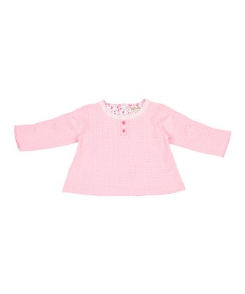 Candy Pink Polka Dot Top - Infant & Toddler