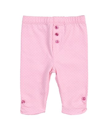 Candy Pink Polka Dot Leggings - Infant & Toddler