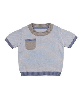 Sky Blue Stripe Merlin Knit Top - Infant & Toddler
