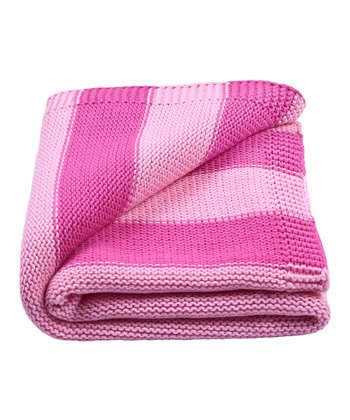 Pink Stripe Receiving Blanket