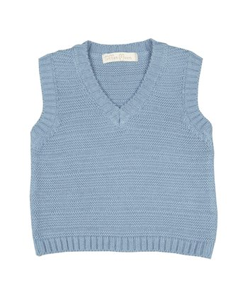 Periwinkle Sweater Vest - Infant & Toddler