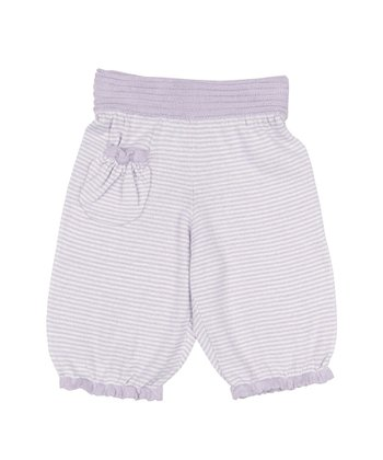 Lavender & Silver Stripe Pants - Infant