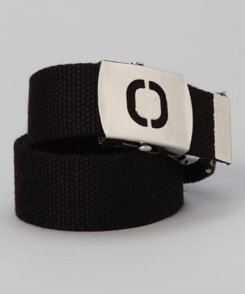 Black Initial Buckle Belt